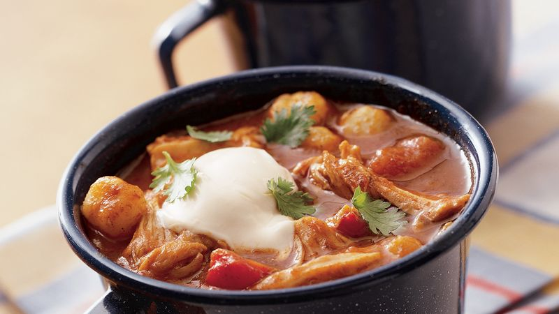 Slow-Cooker Chunky Chicken Chili