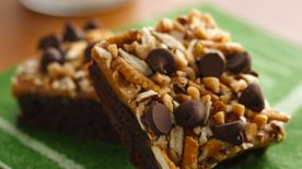 Caramel Pretzel Crunch Brownies