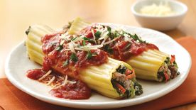 Turkey and Spinach Manicotti