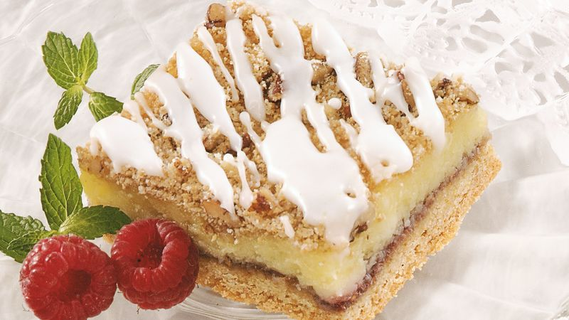 Raspberry Pecan Cream Cheese Bars