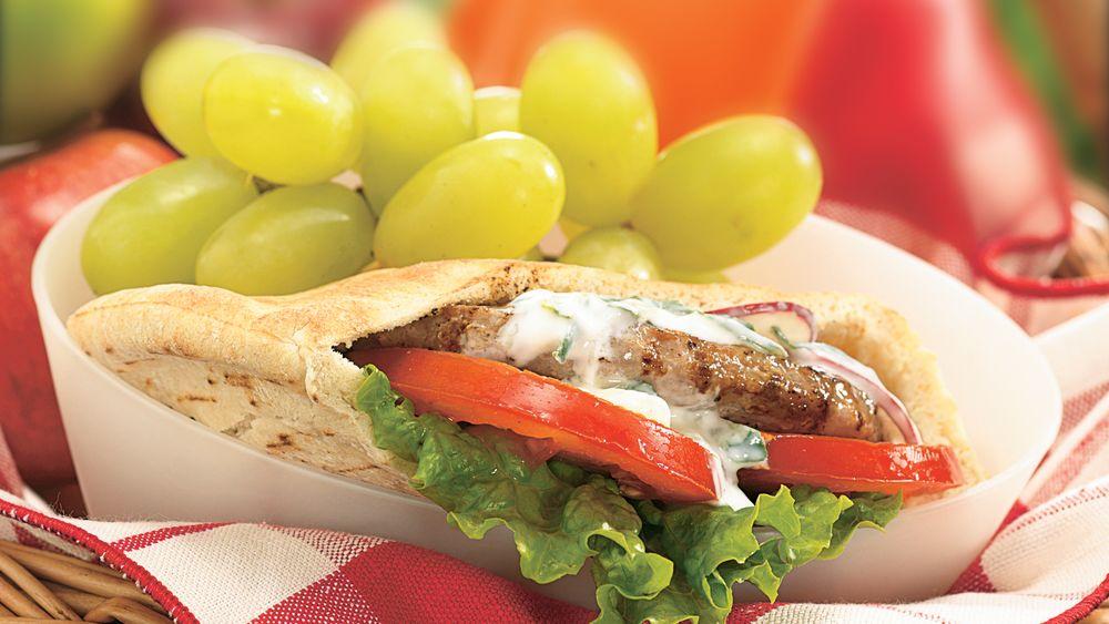 Grilled Turkey-Stuffed Pita Sandwiches