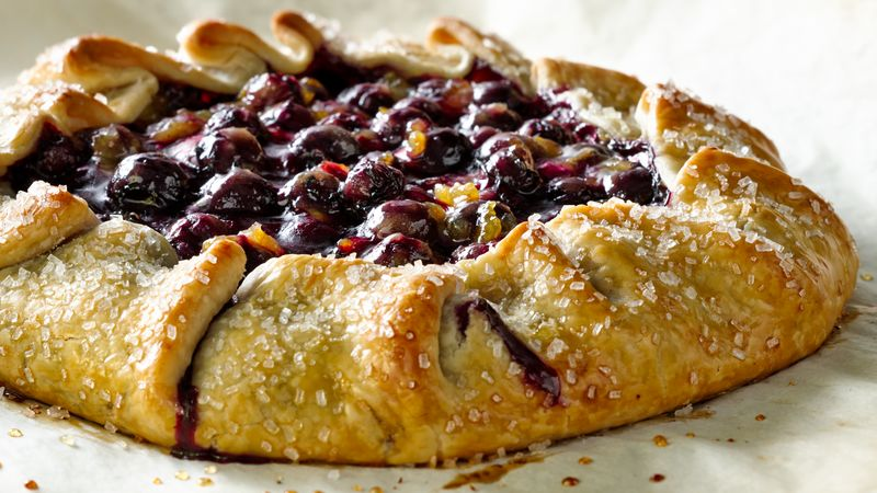 Orange Cardamom Blueberry Crostata