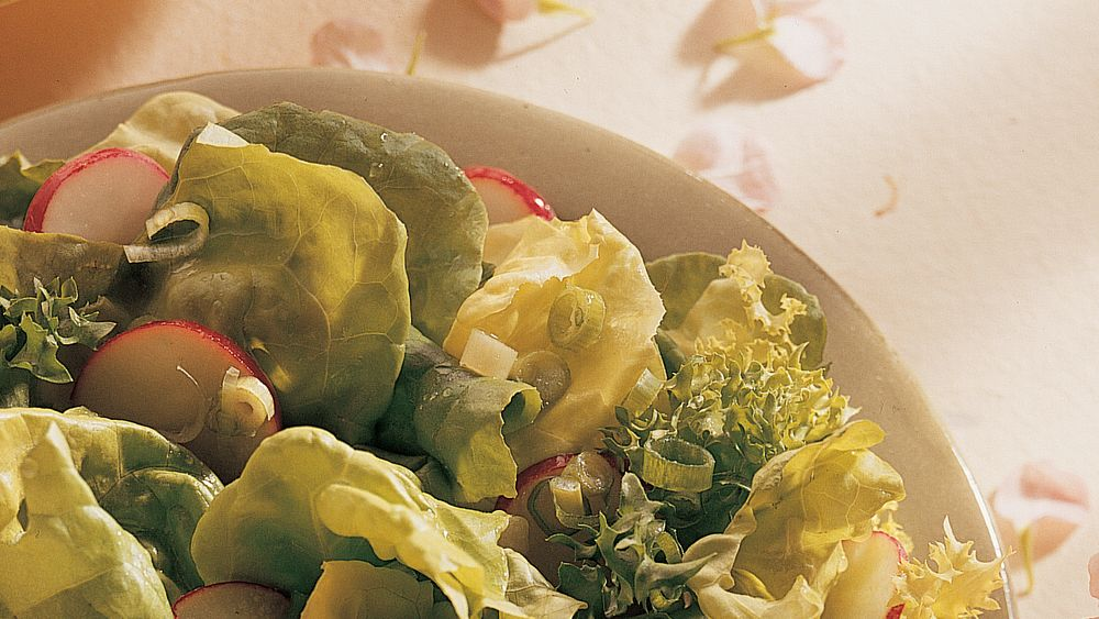 Spring Salad with Honey-Mustard Dressing