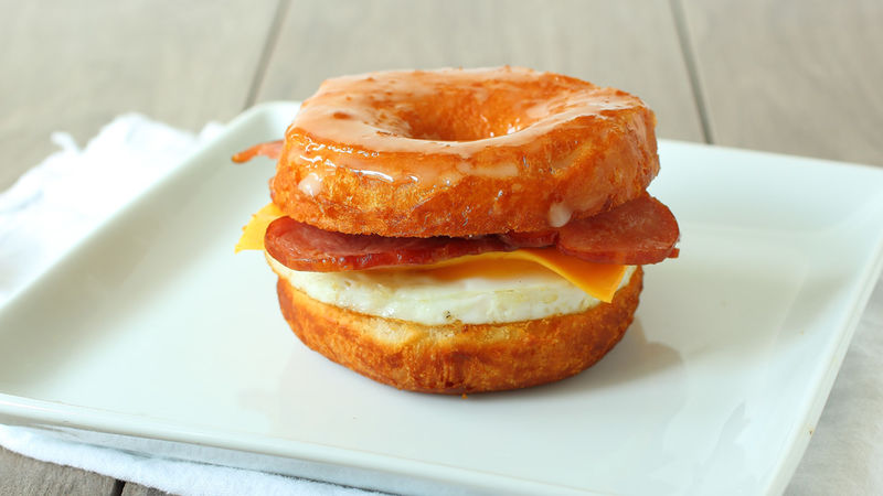 Doughnut Breakfast Sandwiches
