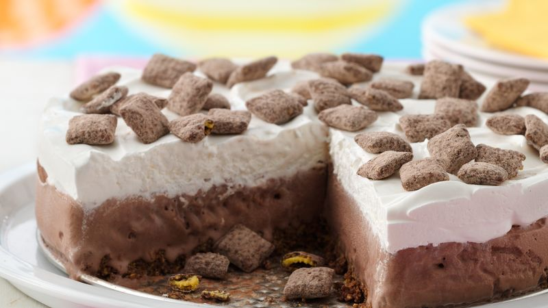 Muddy Buddies® Brownie Ice Cream Cake