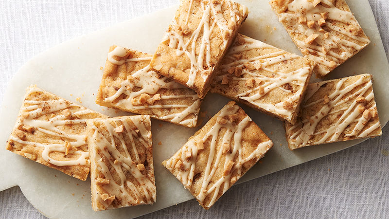 Eggnog-Glazed Macadamia-Toffee Bars