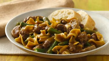 Green Bean and Beef Pasta Supper