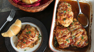 Italian Hasselback Chicken Breasts