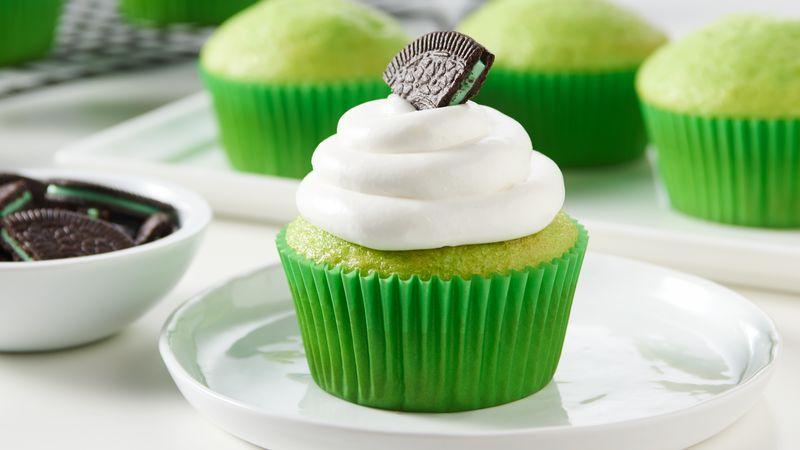 Oreo-Shamrock Cupcakes