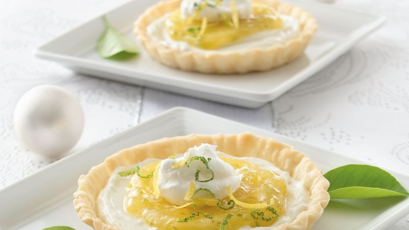 Individual Lemon-Lime Cream Tarts