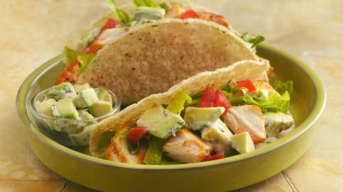 Grilled Fish Tacos with Creamy Avocado Topping_image