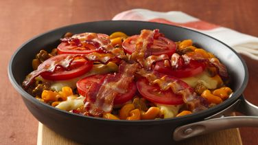 Bacon-Double Cheeseburger Skillet