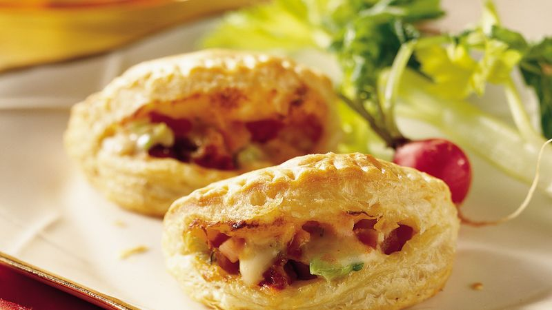 Ham and Gouda Pastry Puffs