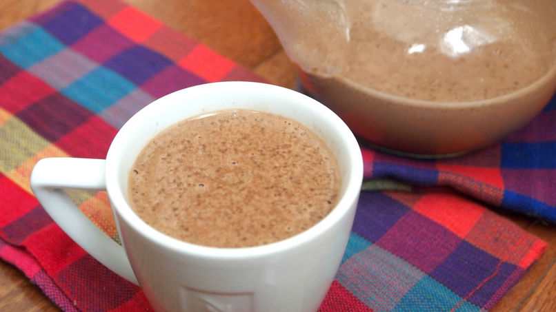 Chia and Coconut Vegan Hot Chocolate