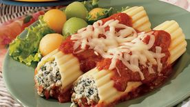 Spinach and Tofu Manicotti