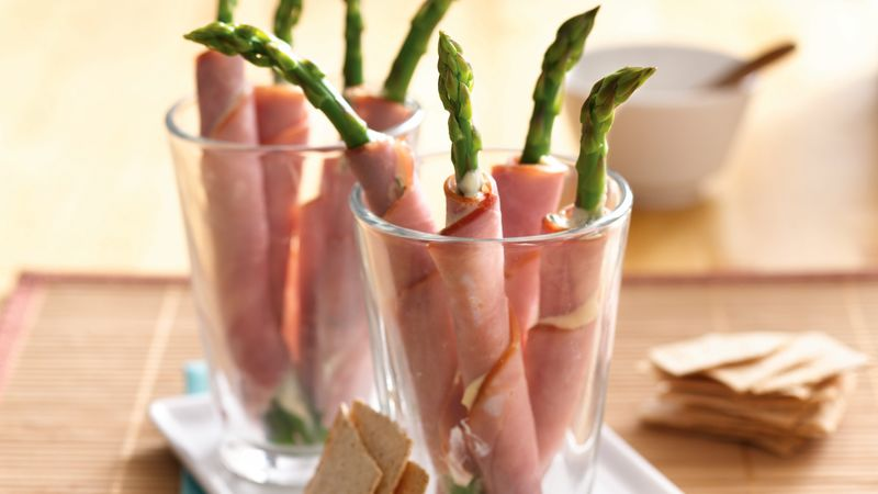 Ham and Asparagus Rolls