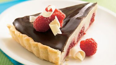White and Dark Chocolate Raspberry Tart