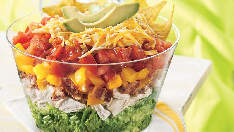 Chicken BLT Taco Salad
