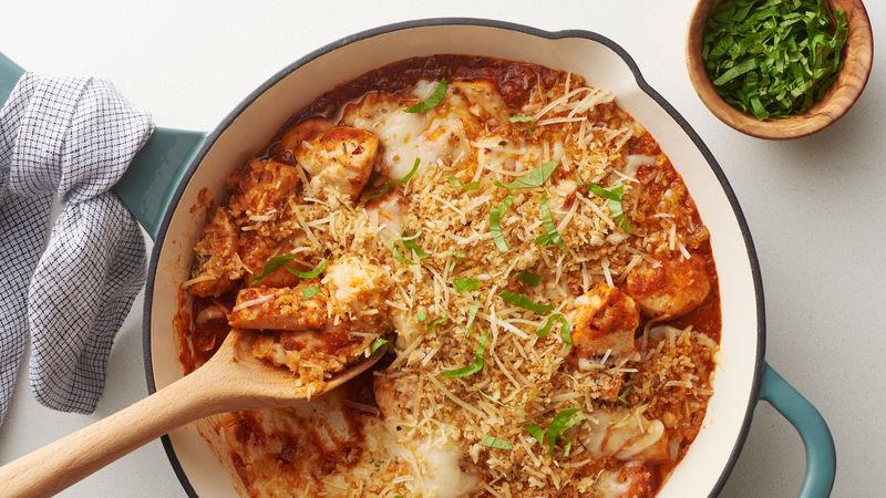 Chicken Parmesan Skillet Casserole