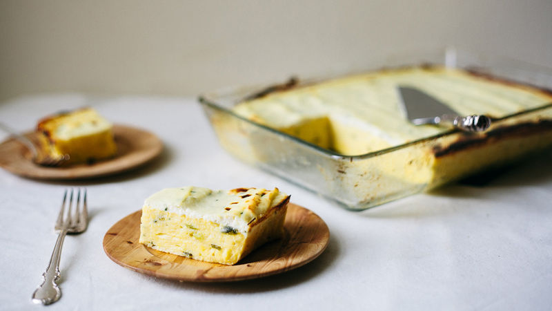 Make-Ahead Polenta with Green Onions and Ricotta