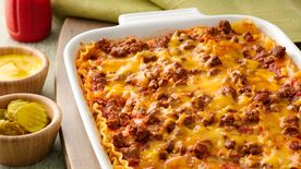 Make-Ahead Cheeseburger Lasagna