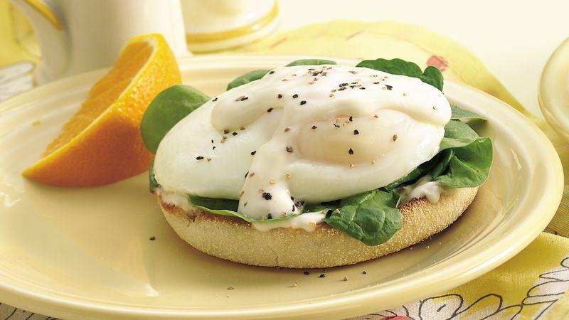 Florentine Eggs on English Muffins