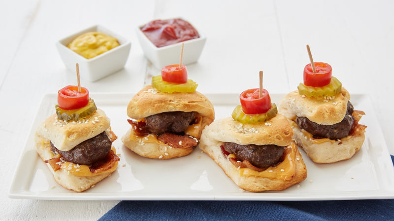 Bacon Cheeseburger-Stuffed Biscuit Sliders