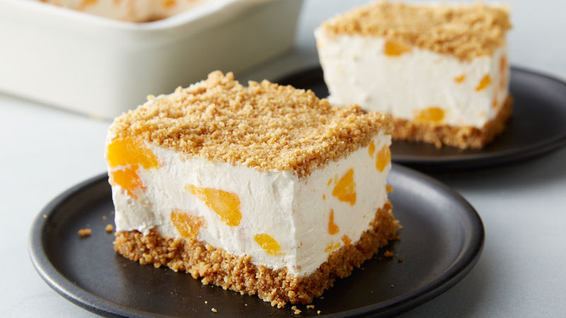 Frozen Creamsicle Crunch Cake
