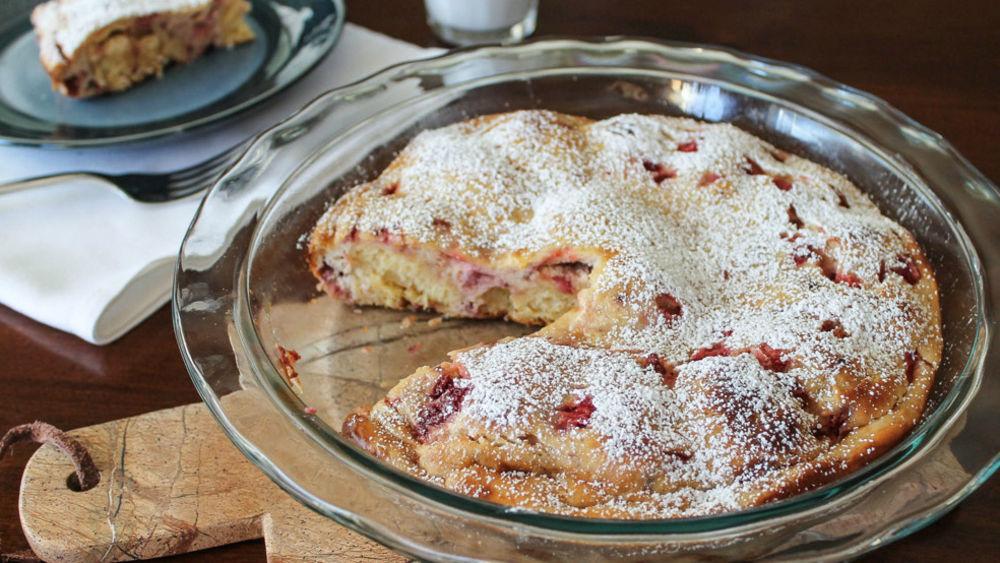 Strawberry-Lemon Crescent Breakfast Bake