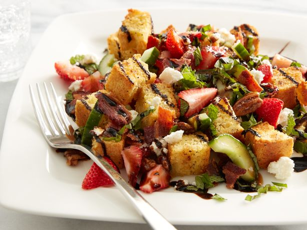 Strawberry Cornbread Panzanella