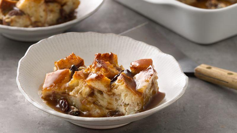 Bread Pudding With Bourbon Sauce Recipe Bettycrocker Com