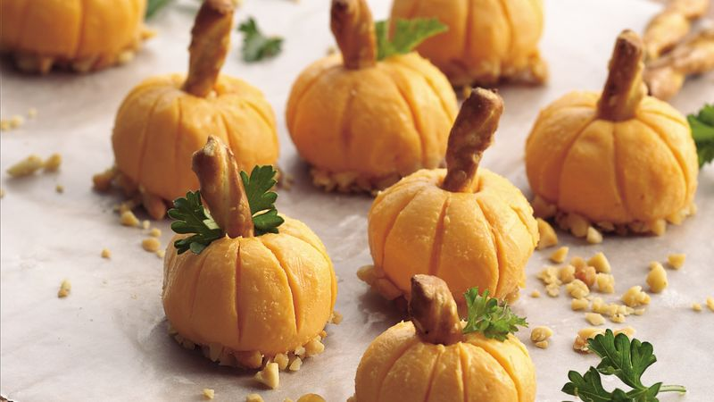 Cheddar Pumpkin Appetizers & Cheddar Pumpkin Appetizers Recipe - BettyCrocker.com