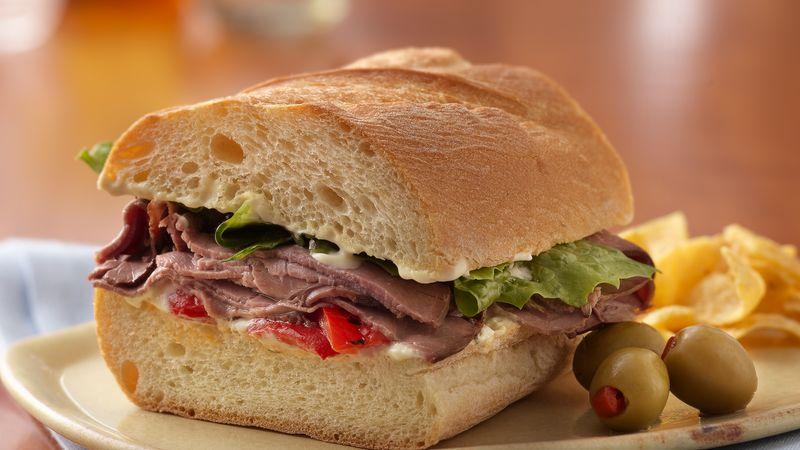 Make Ahead Roast Beef Sandwich Recipe Bettycrocker Com