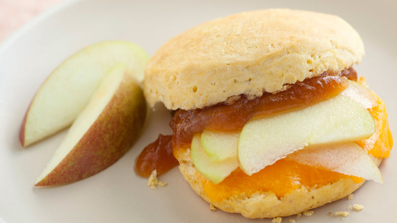 Apple and Cheddar Biscuit Sandwiches