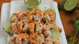 Grilled Shrimp with Cilantro Sauce