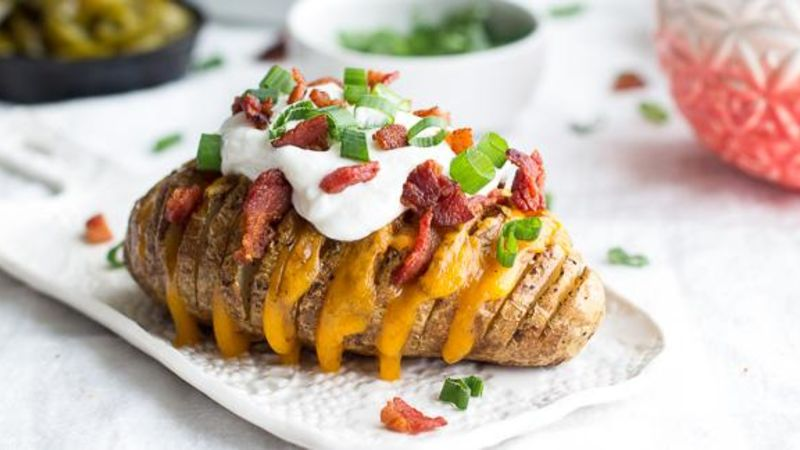 Loaded Hasselback Potatoes Recipe Tablespoon Com