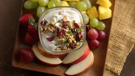 Crunchy Cranberry Almond Greek Yogurt Fruit Dip