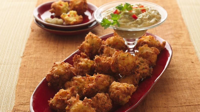 Corn Fritters with Pineapple-Jalapeño Sauce