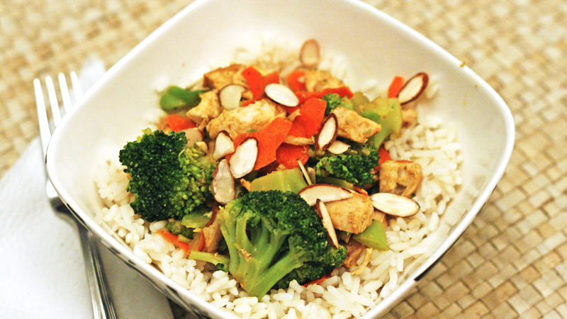 Super Easy Chicken Broccoli Bowl
