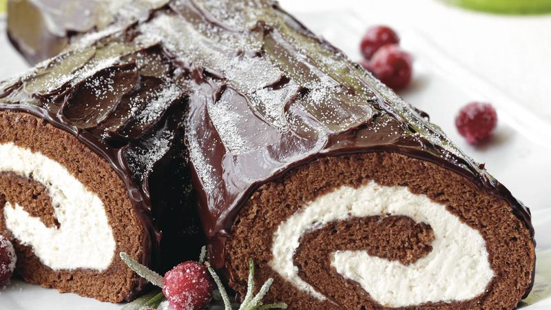 Bûche de Noël with Ganache Recipe - BettyCrocker.com