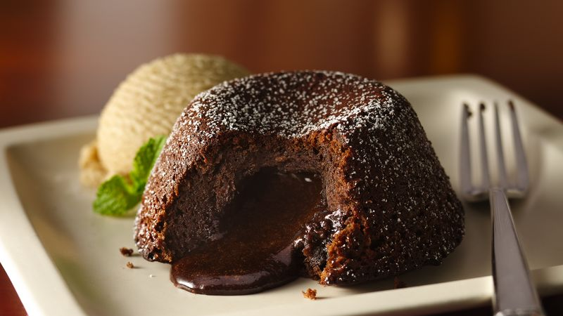 Molten Chocolate Espresso Cakes Recipe Bettycrocker Com