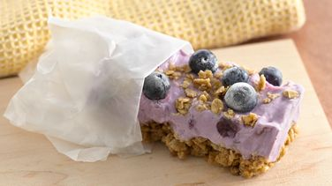 Frozen Blueberry Breakfast Bars