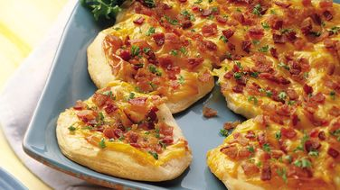 Cheese and Bacon Biscuit Flatbread