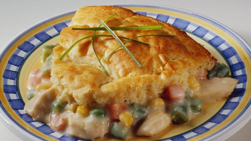 Pastel de pollo fácil