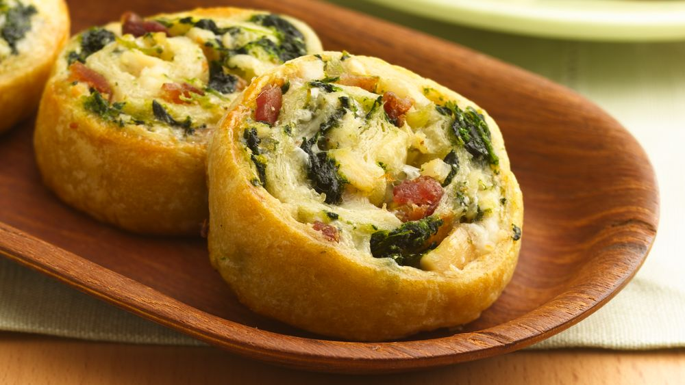 Cheesy Chicken and Spinach Pinwheels recipe from Pillsbury.com