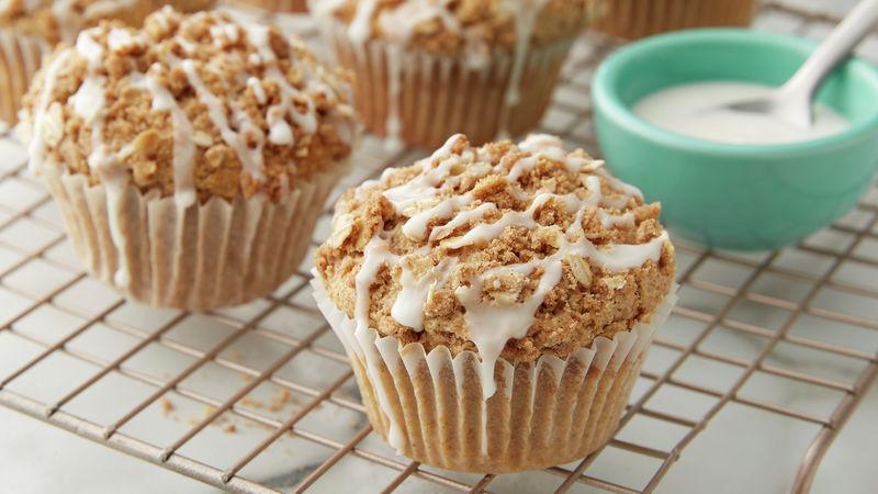Cinnamon Streusel Oat Flour Muffins