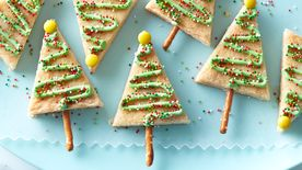 Easy Christmas Tree Cookie Bars