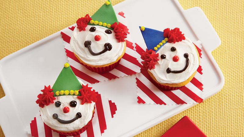 Friendly Clown Cupcakes