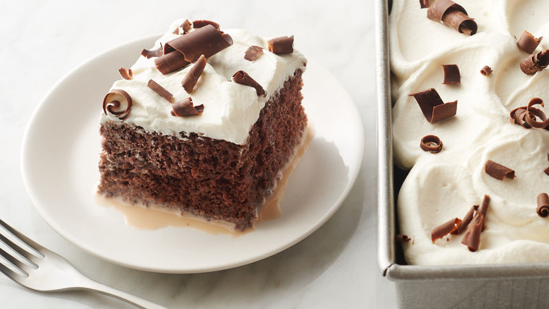 Triple Chocolate-Tres Leches Cake