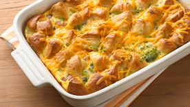 Cheesy Ham and Egg Bubble-Up Bake